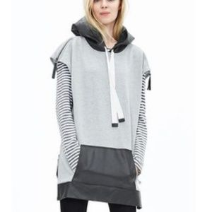 Banana Republic Oversize Hoodie w/ Faux Leather